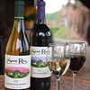 "USA-Sperryville-VA-Bottles of wine at ""Sharp Rock Vineyards"""