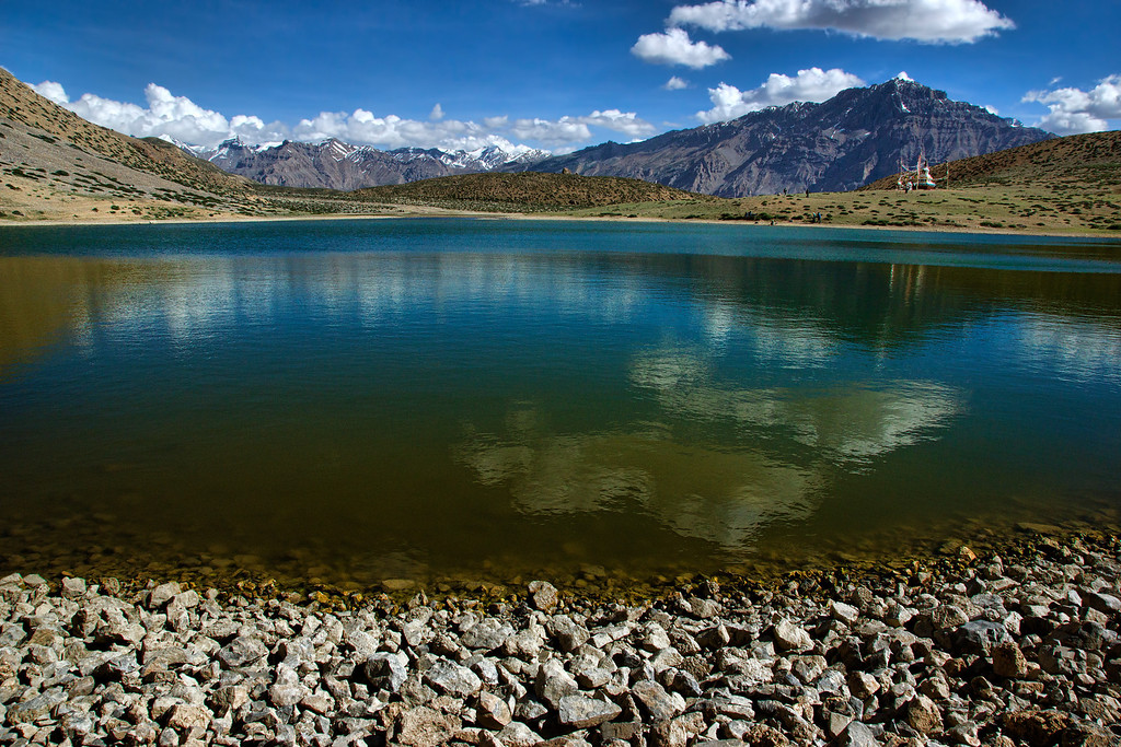 Dhankar Lake in the early afternoon!