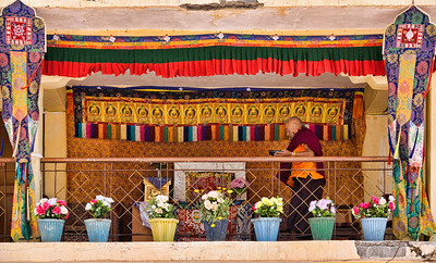 A prayer hall inside the Kungri Monastery