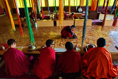 Prayer Hall at the new SakyaPa monastery built in Kaza
