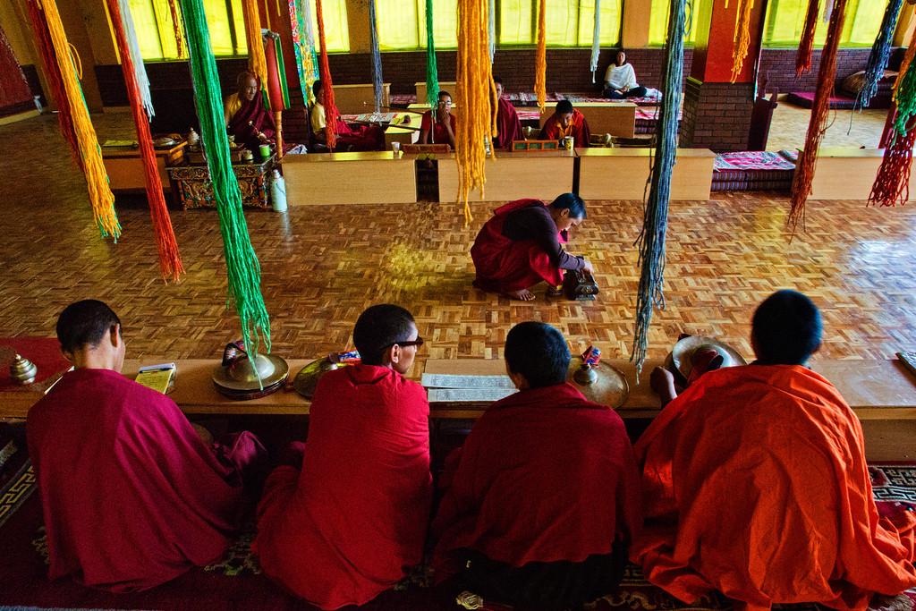 Prayer Hall at the new SakyaPa monastery built in Kaza