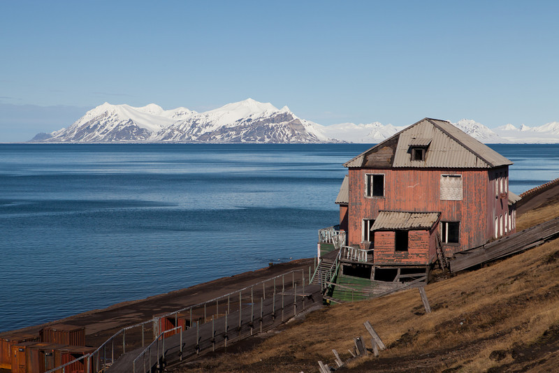 Barentsburg, an old Russian coal mining settlement on Spitsbergen