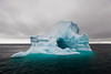 An old iceberg, grounded on the sea bed