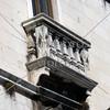 A balcony of Milesi Palace in Split, Croatia.