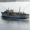 A ferry boat cruising near the port of Split, Croatia.
