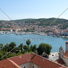 A view of the marina and the city of Trogir, Croatia.