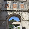 Entrance to the Diocletian's Palace in Split, Croatia.