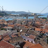 A city view and the marina in Trogir, Croatia.