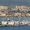 A view from the ship of the city and the port of Split, Croatia.
