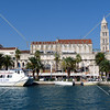 View of the Port of Split in Croatia.