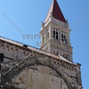 Bell tower of the Cathedral of St Lawrence in Trogir, Croatia.