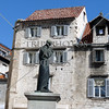 A statue of poet Marko Marulic in Split, Croatia.