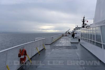Ferry to Naniamo, Vancouver Island.
