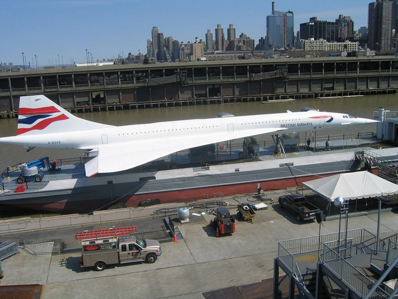 Ok, so maybe it was just inside of a Concorde jet on display.