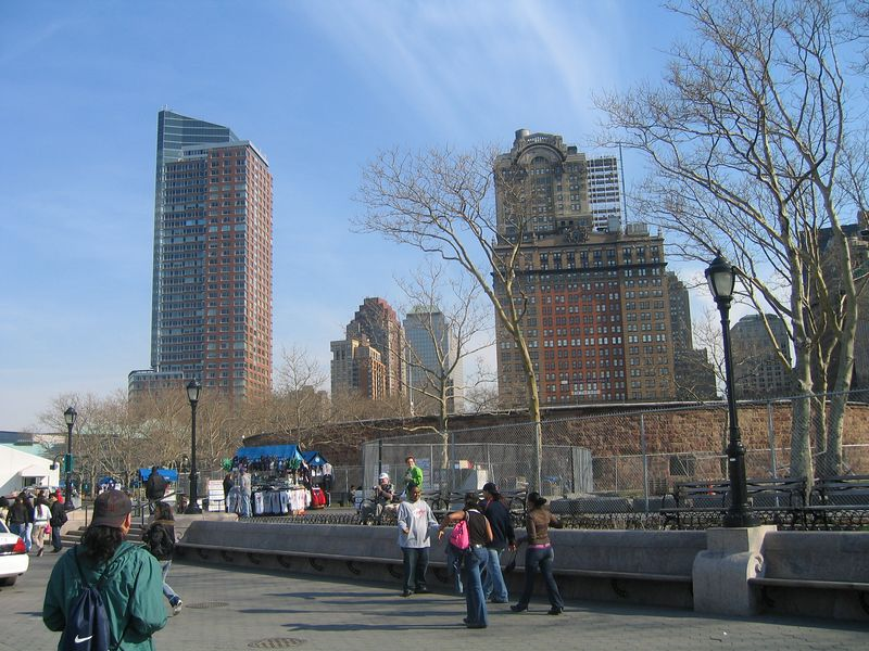 Battery Park on the Southern tip of Manhatten
