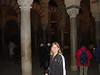 Nikki in the Mezquita's pillar forest.
