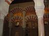 The Mezquita's Islamic-influenced pillars.