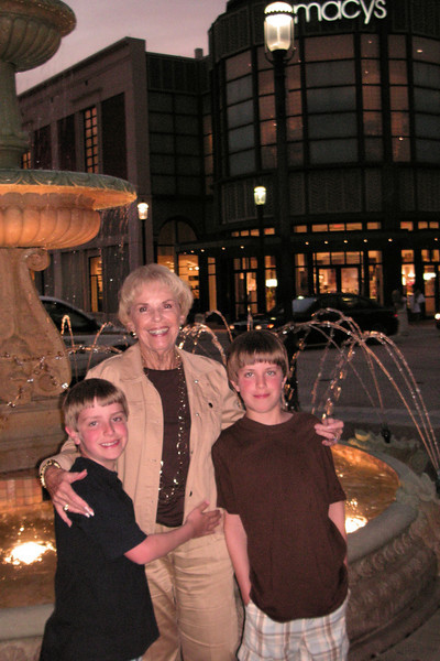 The boys with Nonna at City Place