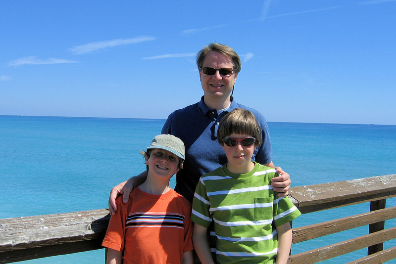 Scott and the boys at Juno Pier