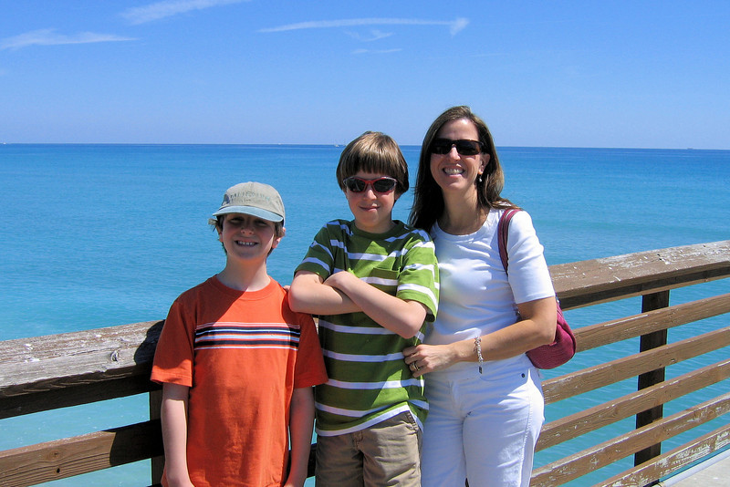 Elizabeth and the boys at Juno Pier