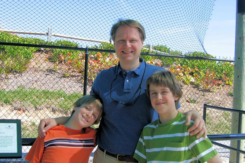 Scott and the boys at Loggerhead Marinelife Center