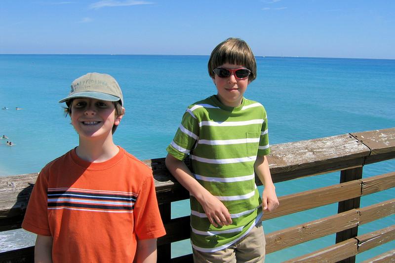 The boys at Juno Pier