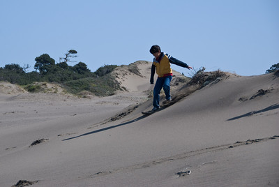 Nikhil skis the dunes