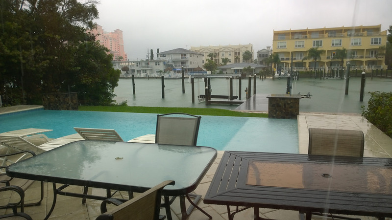 Monday was a rainy day in Clearwater, but it was nice to just relax all day after not getting in until around 1:30am