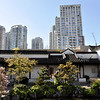 "Old and new, same place, same time. This is in Vancouver British Columbia. View from the Dr. Sun Yat-Sen Garden on the modern skyline.<br /> <br />  <a href=""http://sillymonkeyphoto.com"">http://sillymonkeyphoto.com</a>"