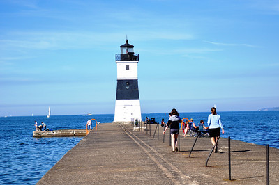Probably the most practical lighthouse is located on the east tip of the Presque Isle State Park, right at the entrance into the Presque Isle Bay. All water traffic in and out from the Bay has to path by it and I'm sure it is very handy at night.