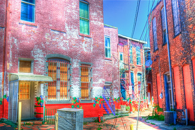 Pretty crazy eye popping HDR here for you. These buildings probably about hundred years old. This is right next to the North East downtown Presbyterian Church. Enjoy, hehe.