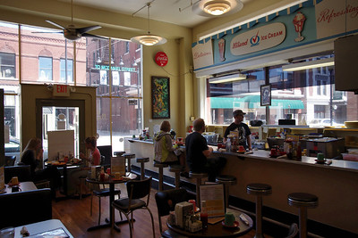 Interior, Gailey's Breakfast Cafe; downtown, Springfield, Missouri.