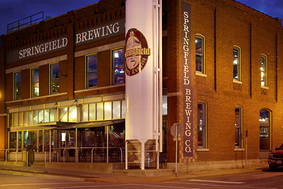Springfield Brewing Company, downtown Springfield, Missouri. Excellent craft beer and above-average bar food.
