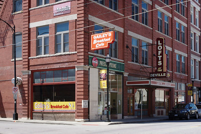 Gailey's Breakfast Cafe, exterior; downtown, Springfield, Missouri.