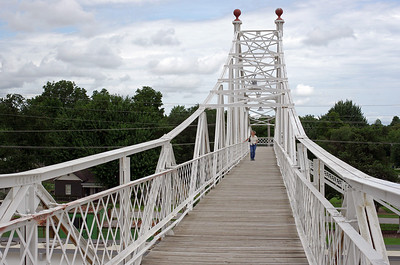 Foot bridge over the railroad tracks, Commercial Street, Springfield, Missouri.