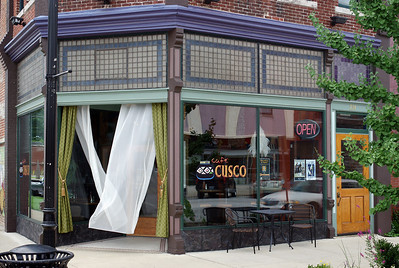 Cafe Cusco, on Commercial Street, Springfield, Missouri. August 2013.