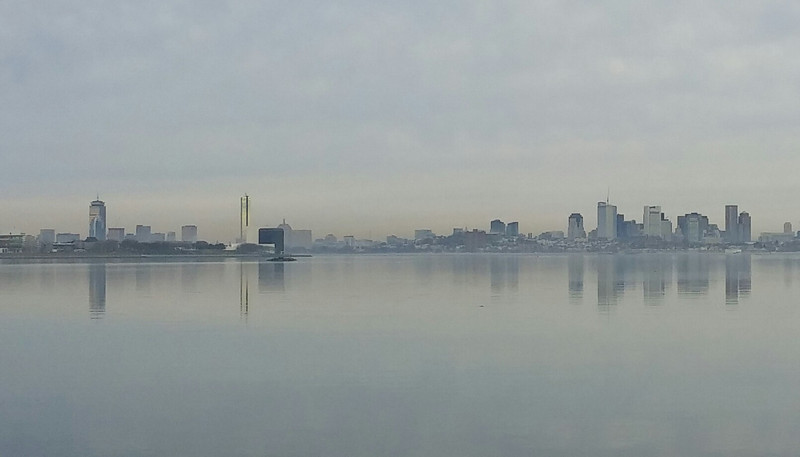 Boston skyline in early morning