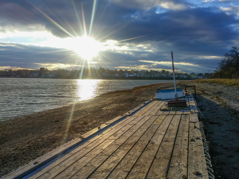 Dock Beached for the Winter, Squantum MA