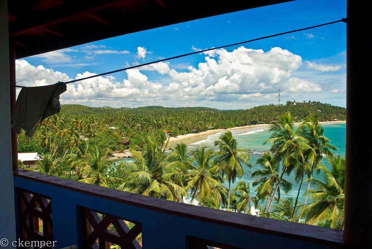 From our room<br /> Mirissa Beach, Sri Lanka
