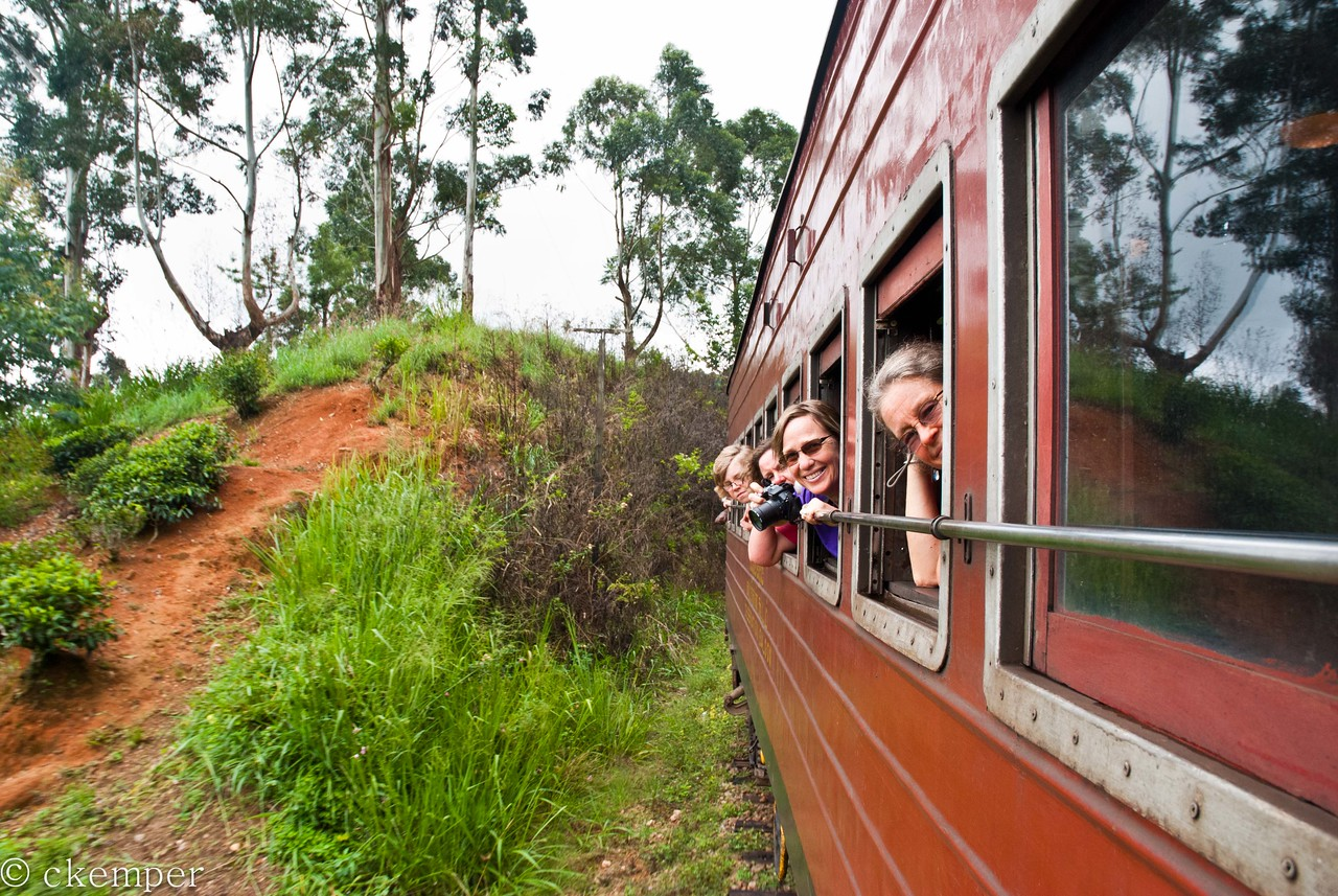 Meemie and Friends<br /> Train from Ella to Colombo, Sri Lanka