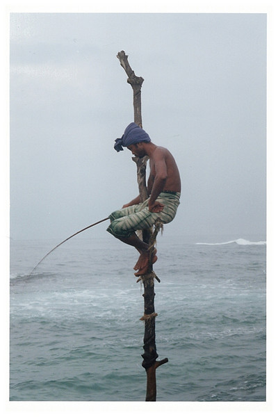 Stilt fishing.