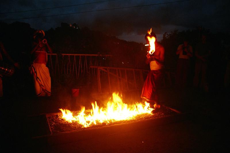 Fire walking, Kandy