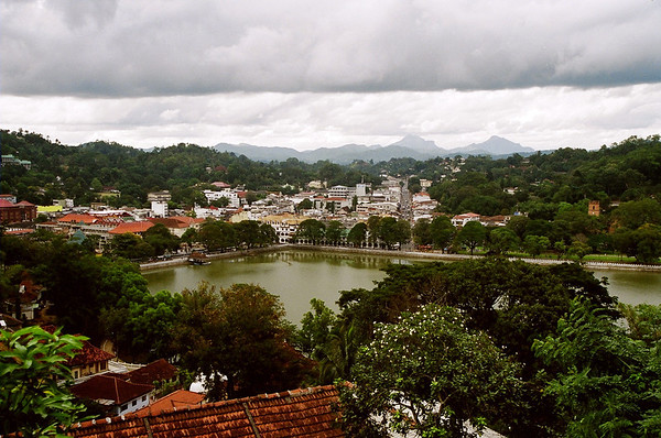 Hilltop view of Kandy