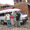 From right to left - Rammuni (our tour guide), Craig, Jeane, driver and van in front of Villa Araliya (our hotel for our final night in Sri Lanka)