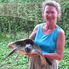 Jeane with large turtle