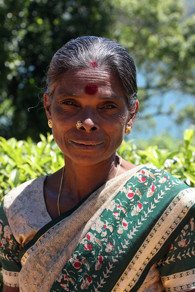 Tamil lady seen while hiking from Castlereigh