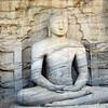 Polonnaruwa: Gal Vihara - sitting Buddha