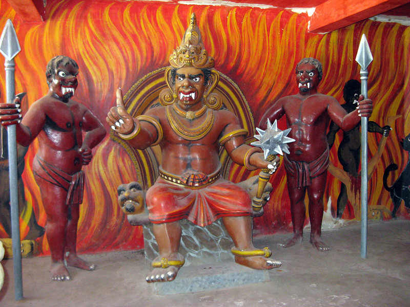 Image house at Wewurukannala Vihara Temple - Demons