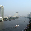 View of the Chao Phraya River from the Shangri-La Hotel, Bangkok on the way to Sri Lanka