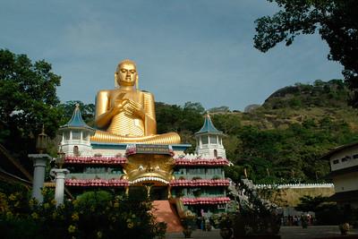 Buddha statute at the Golden Temple, Dambulla, Sri Lanka, July 2004